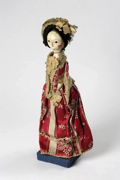 Doll (England) ca. 1770-75 carved and painted wood