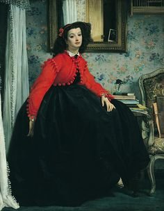 James Tissot, Portrait of the Marquise de Miramon 1864, oil on canvas, Paris, Musée d'Orsay