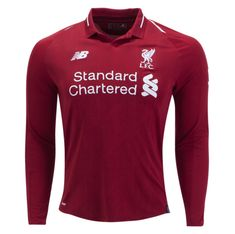 169451504cb Liverpool 18 19 Home Men Long Sleeve Soccer Jersey Personalized Name and  Number
