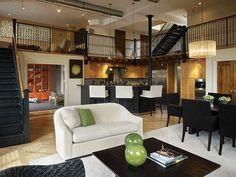 Italian loft home design. decorazione-della-casa.com #Italian #loft