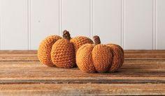 Spice & Clove Knit and Crochet Pumpkins