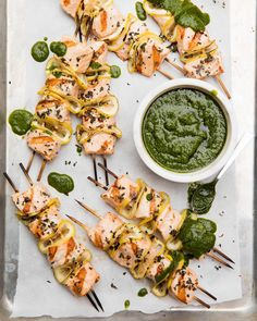 Grilled Salmon Skewers from www.whatsgabycooking.com (@whatsgabycookin)