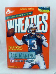 Miami Dolphins Dan Marino 1995 Record Breaker Wheaties Box NFL 13 Americana #Wheaties