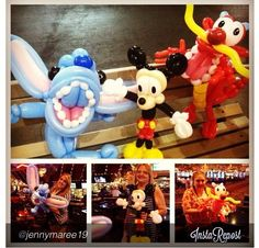 Disney balloon characters  #balloon #sculpture #art #twist #character