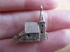 Vintage Silver Nuvo Opening Church Charm.