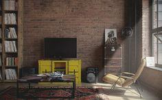 Den-loft. - Лучший 3D-интерьер однокомнатной квартиры | PINWIN - конкурсы для архитекторов, дизайнеров, декораторов