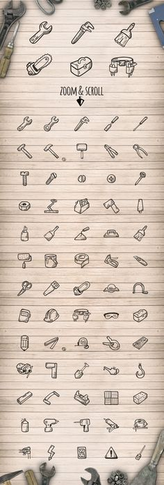Tools - Hand Drawn Icons by Good Stuff, No Nonsense on Creative Market
