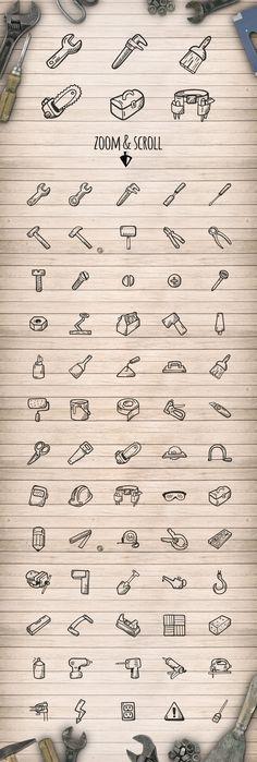 Tools - Hand Drawn Icons by Good Stuff, No Nonsense on Creative Market