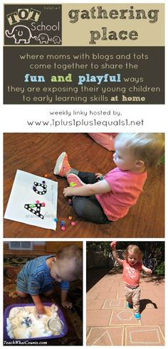 Tot School Gathering Place Week 76 {Shape Hopscotch, Letter A, and A Snowy Day}