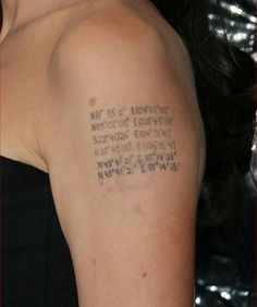 Angelina Jolie's Tattoos And Their Meanings