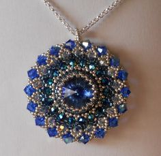 I've always wanted to try this kind of beading but never actually got around to using the book I have 400 miles away! But this maybe a project to start on! Bead Jewellery, Diy Jewelry, Beaded Jewelry, Beaded Necklace, Jewelry Making, Pendant Necklace, Necklaces, Seed Bead Projects, Beading Projects