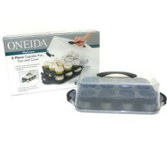 Oneida 24-Count Cupcake Carrying Case : Amazon.com : Kitchen & Dining