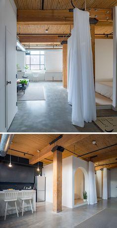 """Este apartamento tem uma """"caixa cama"""" e cortinas de tamanho ideal para privacidade - Ideias Diferentes"""