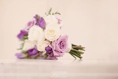 my favorite! purple lavender and white rose bouquet