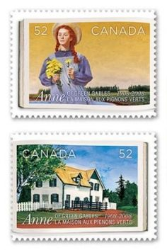 Anne of Green Gables Postage Stamps  from Canada and Japan