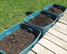 container gardening ideas for vegetables... I like this Idea, but I think I will try the shallow containers that fit under beds.