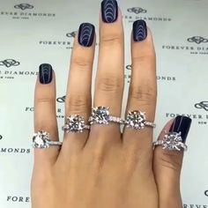 Trendy Ideas For Wedding Nails Glitter Bling Diamonds Morganite Engagement, Halo Engagement, Diamond Engagement Rings, Catty Noir, Diamond Are A Girls Best Friend, Beautiful Rings, Fashion Rings, Jewelry Rings, Pandora Jewelry