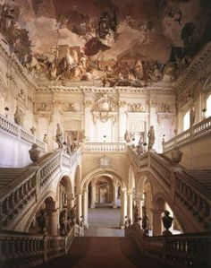 The Grand Staircase of the Palace of Würzburg, by Baltasar Neumann.