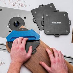 Rockler Corner Radius Routing Templates makes cutting a smooth radius to soften a 90° corner is fast and flawless.