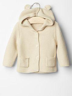 Baby Gap Bear sweater hoodie