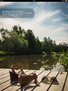 Have a picnic at Vantaanjoki riverbank and docks - make a small dock yours for a while and have a picnic by Vantaanjoki river. Outdoor Chairs, Outdoor Furniture, Outdoor Decor, Helsinki, Ipad, Bench, Tasty, River, Places