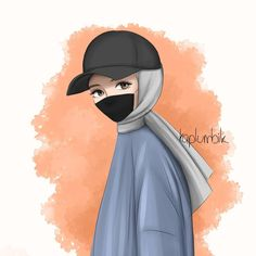 Cool Anime Girl, Anime Art Girl, Girly Drawings, Cartoon Drawings, Cartoon Kunst, Cartoon Art, Hijab Drawing, Islamic Cartoon, Anime Muslim