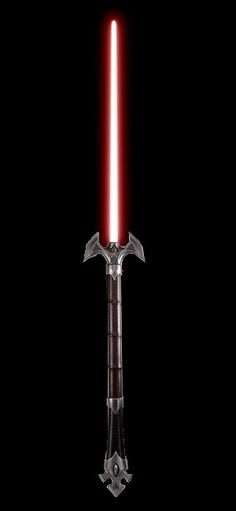This clearly Sith hilt could work if the blade was about three times as long. I envision it being wielded by a Sith sorcerer from a big-boned race.