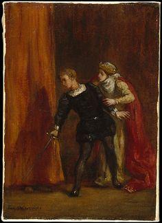 Eugène Delacroix (French, 1798–1863). Hamlet and His Mother, 1849. The Metropolitan Museum of Art, New York. Bequest of Miss Adelaide Milton de Groot (1876–1967), 1967 (67.187.61) #Halloween