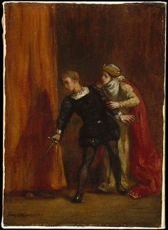 Eugène Delacroix (French, 1798–1863). Hamlet and His Mother, 1849. The Metropolitan Museum of Art, New York. Bequest of Miss Adelaide Milton de Groot (1876–1967), 1967 (67.187.61) #Halloween