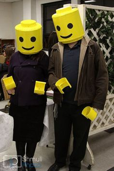 Lego costume, just mask and hands.
