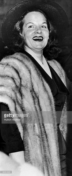 Portrait of Virginia Hill (d. 1966), female gangster and girlfriend of mobster Bugsy Siegel, circa 1950.
