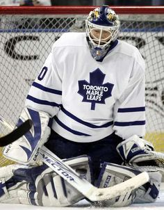 Ed Belfour w/ the Toronto Maple Leafs
