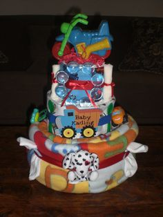 how to make a transportation diaper cake - Google Search