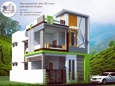 Indian House Designs – Home decoration ideas and garde ideas House Outer Design, Single Floor House Design, House Front Design, Cool House Designs, 3 Storey House Design, Bungalow House Design, Minimalist House Design, Modern House Design, 30x40 House Plans