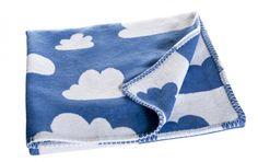 Färg Form Moln Baumwolldecke blau 75x100 cm