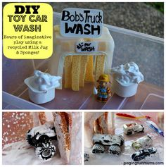 DIY a toy car wash to keep your kids busy for hours. | 29 Boredom Busting Activities Your Kids Will Actually Love