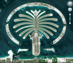 Man Made Giant Palm Islands In The Middle Of Sea