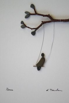 CHILD SWINGING! Pebble Art of Nova Scotia by Sharon Nowlan by PebbleArt on Etsy: