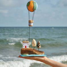 """496 отметок «Нравится», 14 комментариев — Olino_more_ (@olino_more_) в Instagram: «Всем добрый вечер!!! Сегодня море особенно красивое, бирюзовое и в """"барашках"""" Скоро закончится…» Shells And Sand, Fairytale Cottage, Wind Chimes, Beach Wood, Rustic Wood Walls, Driftwood Crafts, Home Automation, Old Wood, Model Homes"""