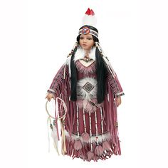 This doll makes the perfect decoration for your home or companion for an imaginative child. Delightful doll features exquisite detail from head to toe. Porcelain head, hands and feet. Traditional Nati