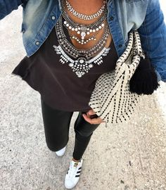 Glamorous Over The Top Statement Necklace - #fashion #fashionista #glam #ootd #necklace #fashiontrends - 27,90 @happinessboutique.com