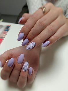 Lavender Gel Brush Nailart #pastel #winter