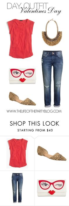 """""""Day Outfit Valentines Day"""" by thelifeoftheparty ❤ liked on Polyvore featuring J.Crew, Dr. Scholl's, H&M, Kate Spade, Stella & Dot, women's clothing, women, female, woman and misses"""