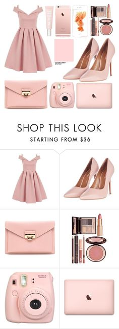"""""""Untitled #21"""" by alexis-dira ❤ liked on Polyvore featuring Chi Chi, Topshop, Charlotte Tilbury, Fujifilm and Sisley"""