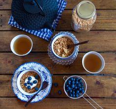 Granola maison aux noix Granola, Muffins, Brunch, Snack Recipes, Snacks, Homemade, Vegan, Healthy, Tableware