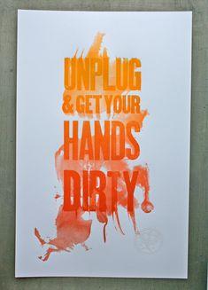 Artisan Activist ~ Studio on Fire Letterpress Poster