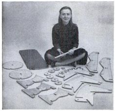The Tyng Toy was created by the brilliant young architect Anne Tyng in the late 1940's. It's probably the least well known of toy from the Golden Age of postwar modernist kid's design, an era which also saw toys and playthings by the likes of Charles and Ray Eames, Isamu Noguchi, Antonio Vitali, and Egon Moeller-Nielsen. It's when Caplan and Barenholz's Creative Playthings really took off, making the case for modernist, abstract toys that encouraged kids' imaginations.