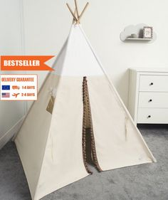 children teepee tent, kids play tent, tipi, teepee tent, indian wigwam Village by cozydots on Etsy