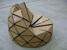 Reduse, Re-use and Recycle Design Cycle Cardboard Chair, Diy Cardboard Furniture, Cardboard Model, Cardboard Box Crafts, Cardboard Design, Paper Furniture, Cardboard Paper, Cool Furniture, Furniture Design