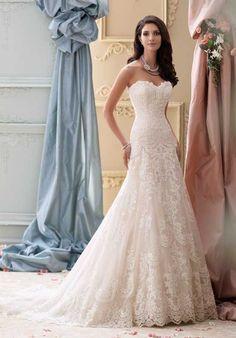 David Tutera for Mon Cheri 115237 Justice A-Line Wedding Dress